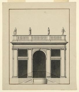 Drawing, Pavilion, Elevation