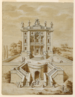 Drawing, Villa, ca. 1650