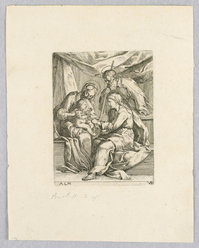 Print, Holy Family with Saint Anne