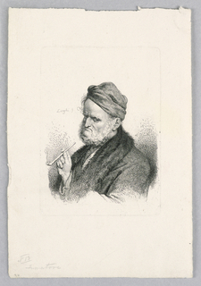 Print, Man with a Pipe