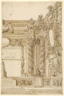 Drawing, Church Sanctuary, probabl, 1692