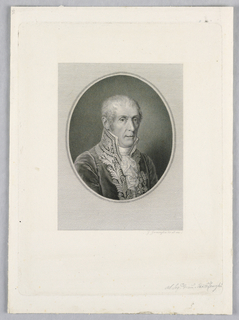 Print, Man with Braided Coat