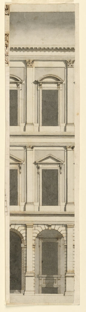 Drawing, Three-story Town Mansion,