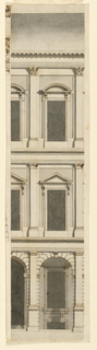 Drawing, Three-story Town Mansion,, 1775–1800