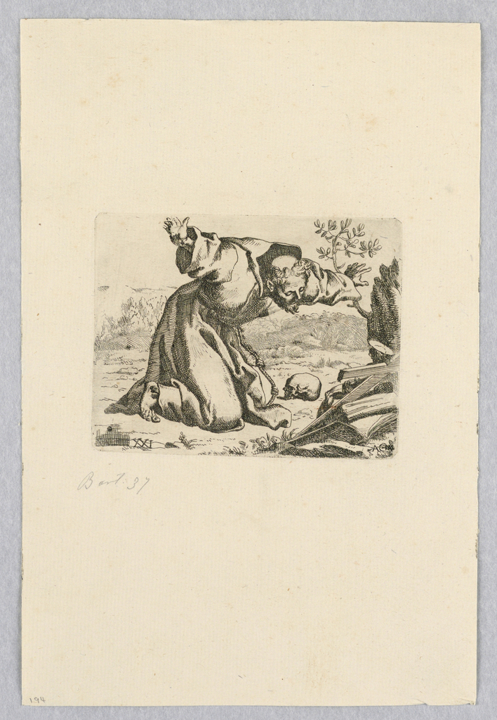 Print, St. Francis in the Wilderness