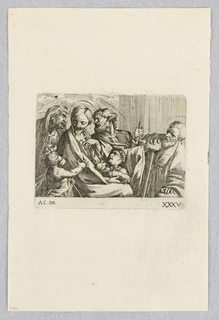 Print, Holy Family and Saints