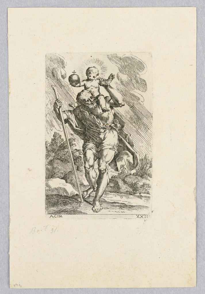 Print, St. Christopher and Jesus