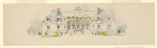 Drawing, Elevation of Mansion