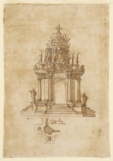 Drawing, Catafalque, ca. 1631