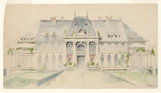 Drawing, Preliminary Entrance Elevation, Newport Country Club, Newport, Rhode Island