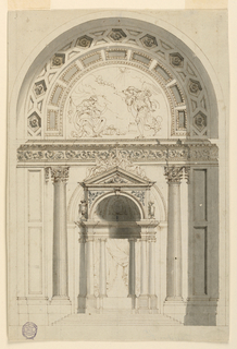 Drawing, Design for an Altar, late 18th century