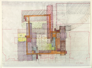 Plan with entrance designations