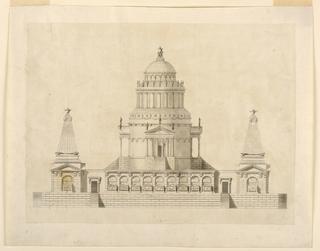 Drawing, Elevation of a Fantastic Mausoleum, ca. 1780