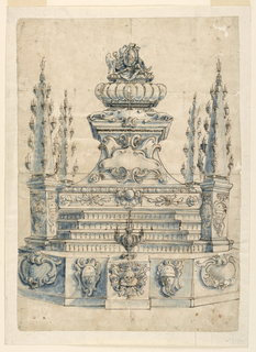 Drawing, Catafalque, with Coat-of-, 1650–75