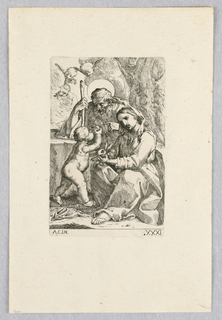 Print, Holy Family with Putti