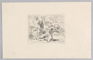 Print, Cupid and Apollo
