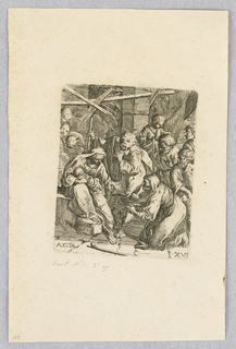 Print, Holy Family in the Stable
