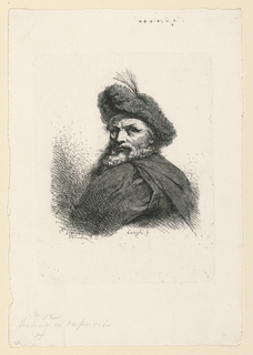 Print, Man with Feathered Hat