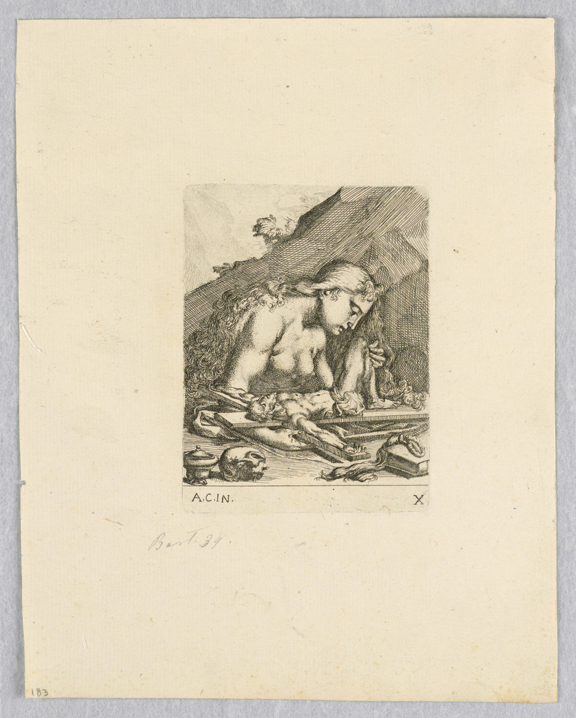 Print, Magdalene with Crucifix