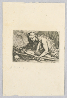 Print, Mary Magdalene with Crucifix