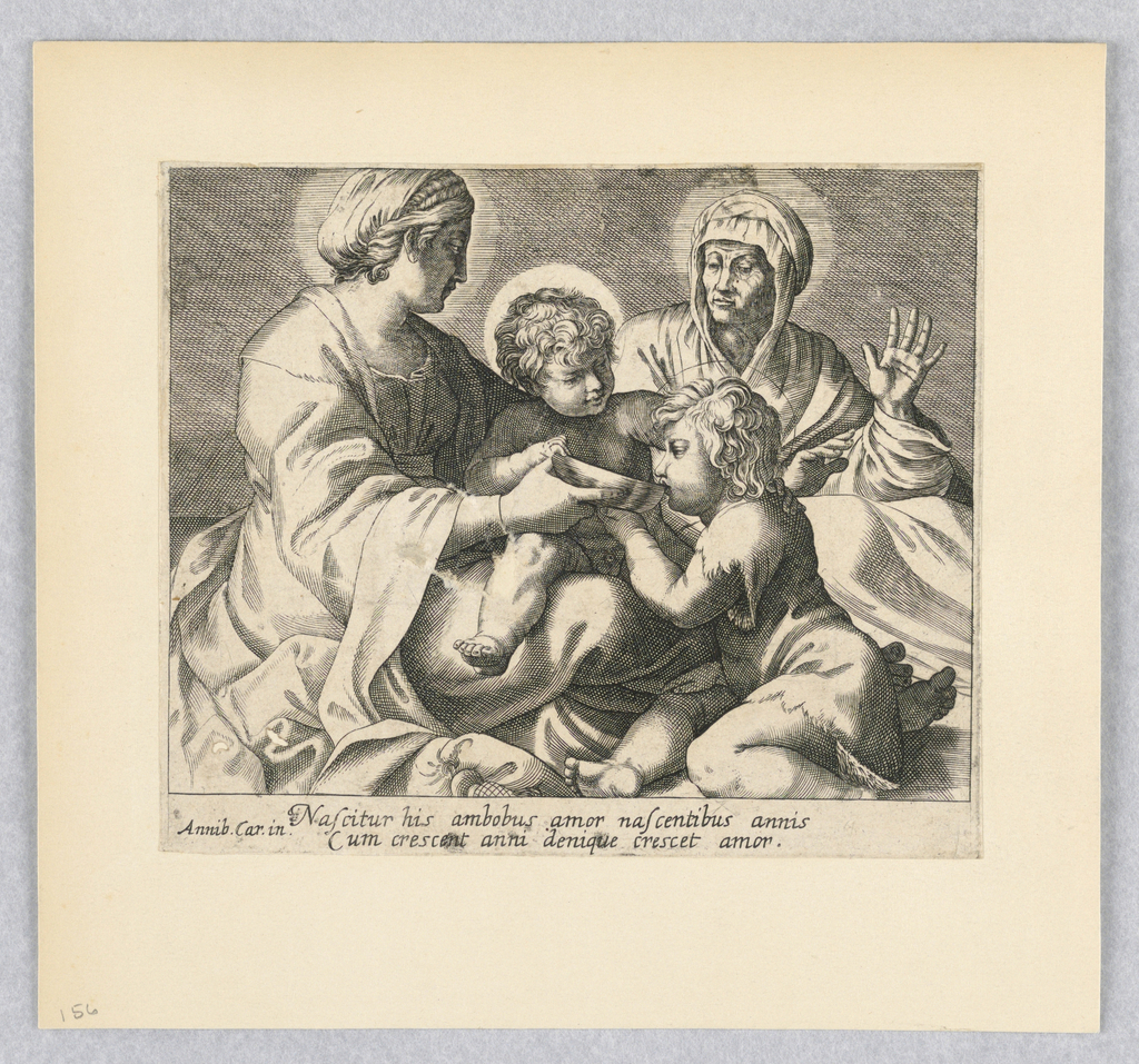 Print, Madonna and Child, St. Anne