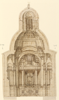 Drawing, Avila Chapel, S. Maria in