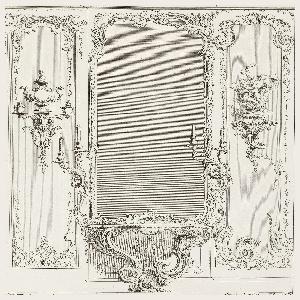 Print, Plate 3, Developement d'un Trumeau de glace fait pour le Portugal (Design for a Pier Glass with Varation for Portugal), Oeuvre de Juste-Aurèle Meissonnier (Works of Juste-Aurèle Meissonnier)