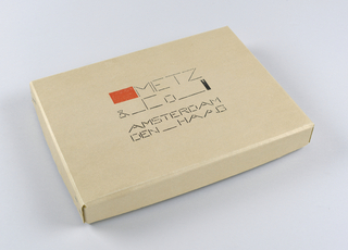 Box Cover, Packaging for Metz & Co. (Box Lid)