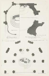 Plan of designs for altars.
