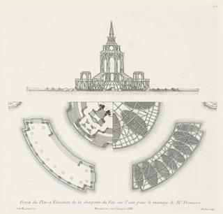 Plan and elevation of design.