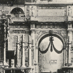 View of Arch of Victory and Court of Heroic Dead on 5th Avenue looking north.