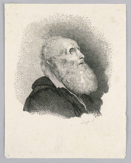 Print, Bearded Man