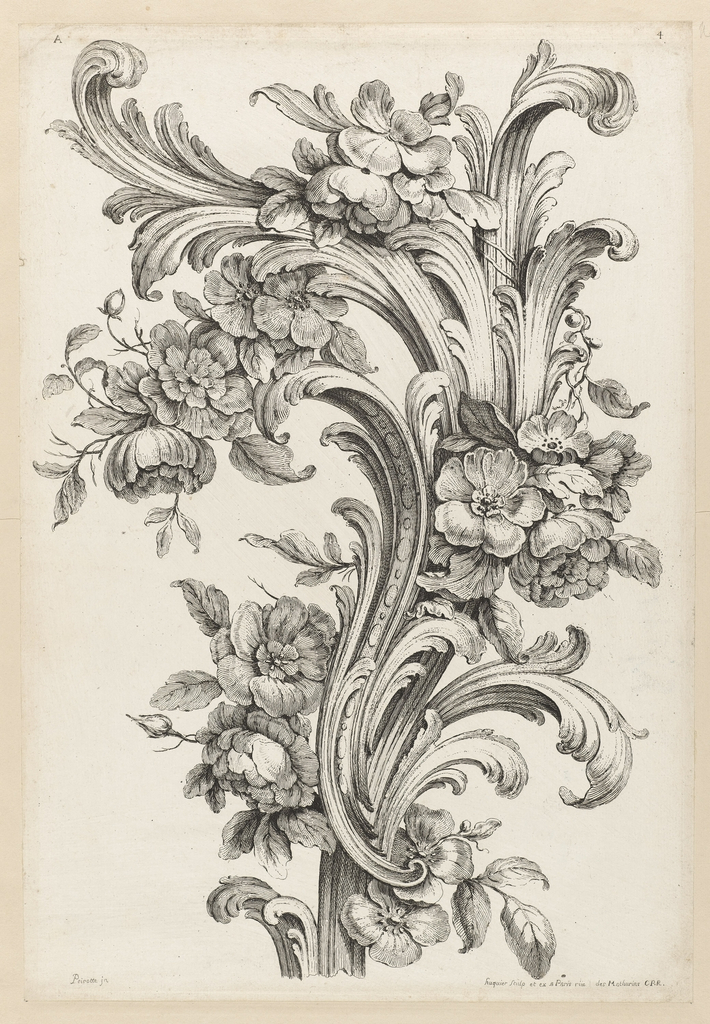 print floral and acanthus leaf design 1740 objects collection of cooper hewitt smithsonian design museum acanthus leaf design 1740 objects