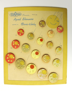 """April Showers"" Button, 1943"