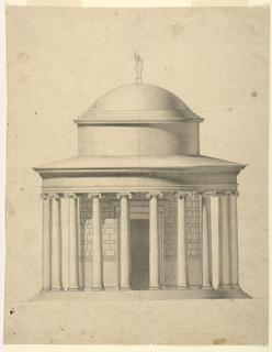 Drawing, Design for the Elevation of a Circular Pavilion, ca. 1800