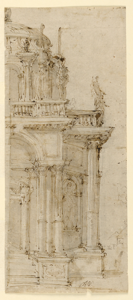 Drawing, Design for a Catafalque