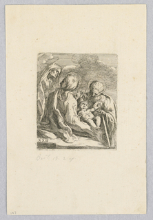 Print, Holy Family and St. Anne