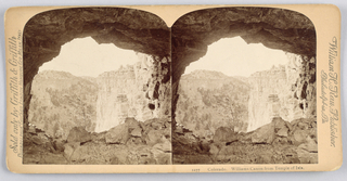 Stereoscope Slide, Colorado. Williams Canon from the Temple of Isis.