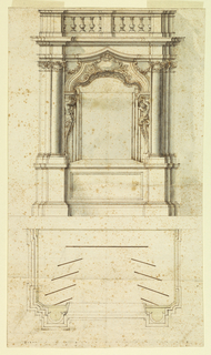 Drawing, Proscenium and Plan for a Stage, 1725–50