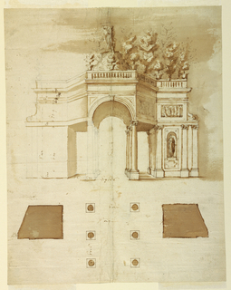 Drawing, Design for a loggia