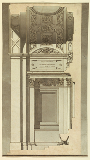 Drawing, Section through above Chapel, 1775–1800