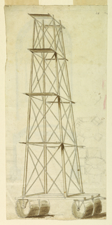 Drawing, Recto: Design for a Scaffold; Verso: Design for an Altar, 1775–1800