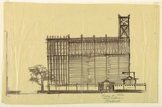Drawing, Alternate Design for Side Elevation of Proposed First Lutheran Church, Boston, Massachusetts