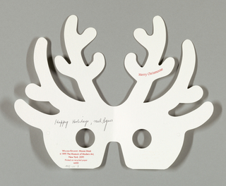 Holiday Card, Merry Christmoose, 1991