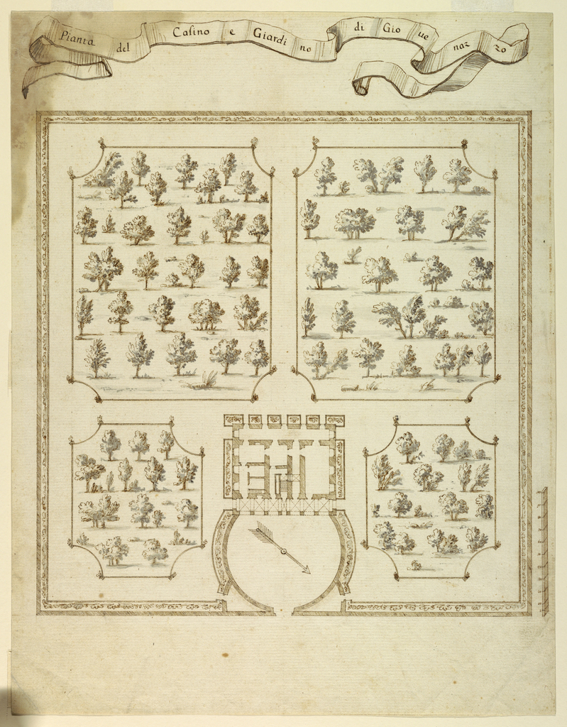 Drawing, Plan of the Casino and Gardens of Giovenazzo