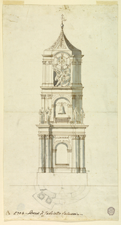 Drawing, Design for a Bell Tower, ca. 1704