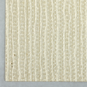 A textured pattern resembling burlap fabric, printed in pale beige and off-white.