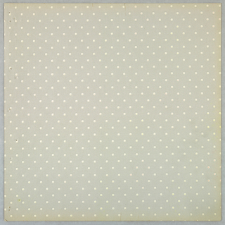 All-over pattern of pin dots forming diagonal stripes. Printed in white on light gray.