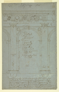 Drawing, Elevation of a Portico of Doric Order, 1750–1800