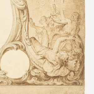 """Drawing, Design for an Ornamental Border Used for the Surround to the General Chart in John Pine's """"Tapestry Hangings in the House of Lords"""""""